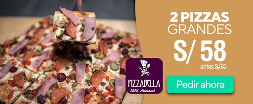 2 pizzas grandes a 58