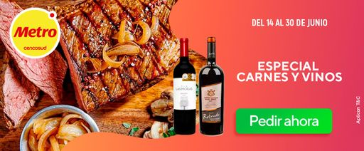especial vinos y carnes