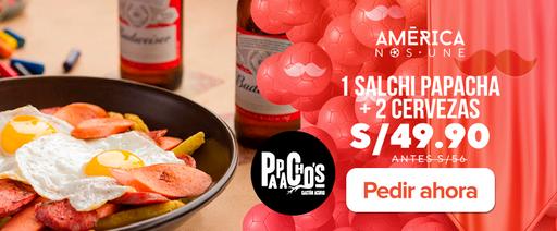 1 Salchi Papacha + 2 cervezas