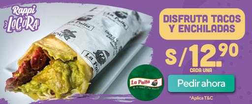 Tacos y enchiladas a S/12,90