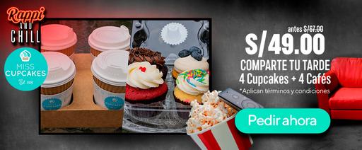 4 Cupcakes + 4 Cafés