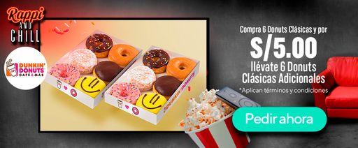 Compra media docena de Donuts Clásicas + S/.5.00 llévate 6 más