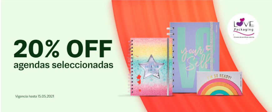 Love Packaging- 20% off agendas