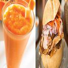 Jugo de papaya c/ sandwich de pavo