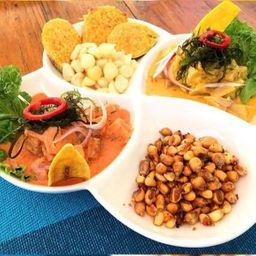 Ceviche en Doble Salsa