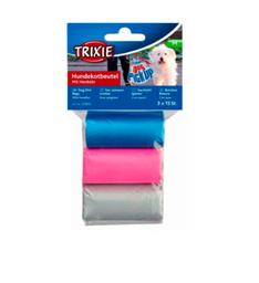 Trixie pack de 3 rollos bolsas con asas(3 rollos x 15 bolsas)