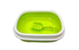 Baño para Gato + Recogedor (42 x 36x13 cms) / Color al azahar