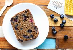 Keke Slice Blueberries y un Toque de Maracuyá