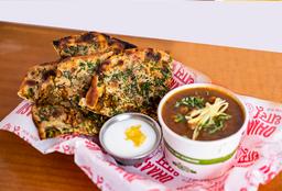Combo Carne Molida Kulcha (Pan relleno con Carne Molida)