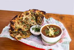 Combo Mix Veg Kulcha (Pan relleno con Verduras)