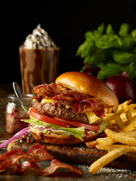 Triple Bacon Stackhouse Burger