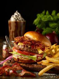 Triple Bacon Stackhouse Burger