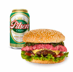 Hamburguesa Flamante + Pilsen Lata 355ml