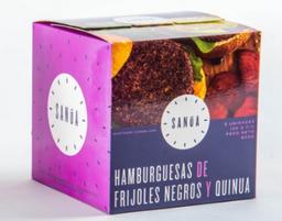 Hamburguesas De Frijoles Negros y Quinua SANÚA - 600g