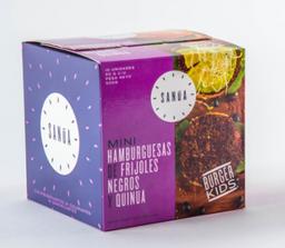 Mini Hamburguesas De Frijoles Negros y Quinua SANÚA - 500g