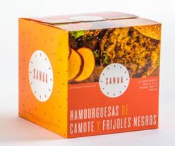 Hamburguesas de Camote y Frijoles Negros Sanúa -