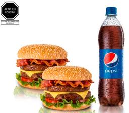2 Hamburguesas Monster + Pepsi