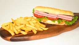 Sandwich + Papas Fritas