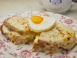 Sándwich de Croque Madame
