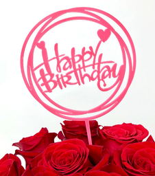 Topper Happy Birthday Rose