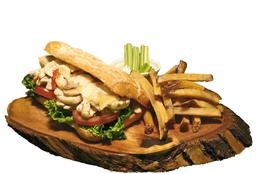 Chicken Alfredo Sándwich