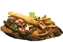 Lomo Saltado Cheese Sándwich