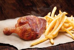 1/4 Pollo Parte Pierna + Papas