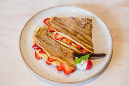 Crepes De Nutella Y Fresa