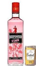 Gin Beefeater Pink + 04 Latas de Agua Tonica Britvic 150ml