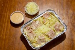 Ham Alfredo Pasta