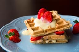 Waffle con Delicia de Fresa