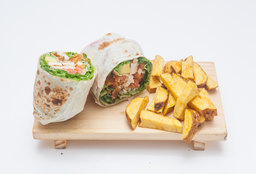 2 Wraps Crispy + Papas Nativas
