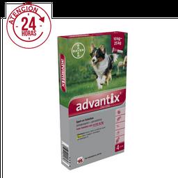Antipulgas para Perros ADVANTIX - PIPETA DE 2.5 ml (10 A 25 KG)