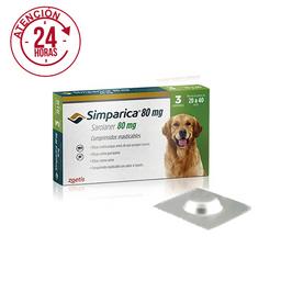 Antipulgas para Perros SIMPARICA 80 MG ( 20 - 40 KG ) x3