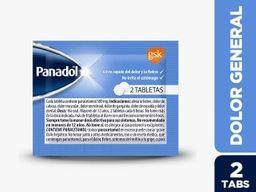 Panadol Tab X 1 Sobre X 2 Tabletas