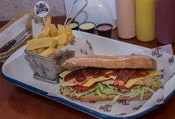 Sandwich de Pollito Barbecue