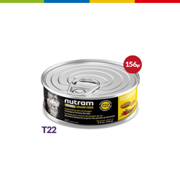 Nutram Cat T22 (Pavo, Pollo & Pato) 156 Gr - 11705