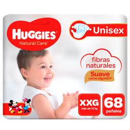 Pañal Huggies Natural Care Bigpack Talla XXG 68 unid