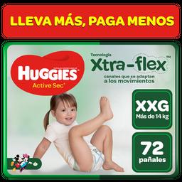 Huggies Panal Desech Active Sec Xxg Bolsa