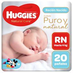 Huggies Pañal Natural Care Primeros Días RN