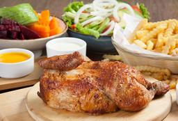 1/2 Pollo Mediterráneo Con Ensalada Y Papas