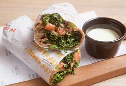Wrap de Veggie Mezze Árabe
