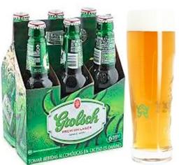 Cerveza Grolsch bot 330 ml x 06 und. + vaso