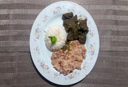 Arroz, Frejol y Seco de Carne