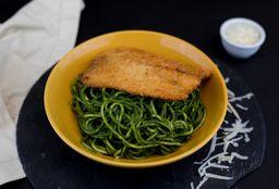Spaguetti con Salsa Verde