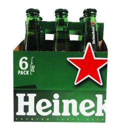 Cerveza Heineken Six Pack Botella 330 Ml