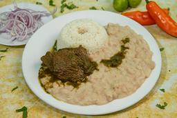 Seco de Carne, Porción de Arroz y Frejoles + Chicha Morada