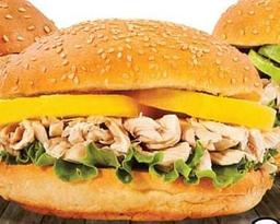 Sándwich de Pollo Desmenuzado con Durazno
