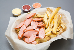 Salchipapa Clásica Hot dog
