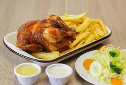 1 Pollo a la Brasa + Ensalada